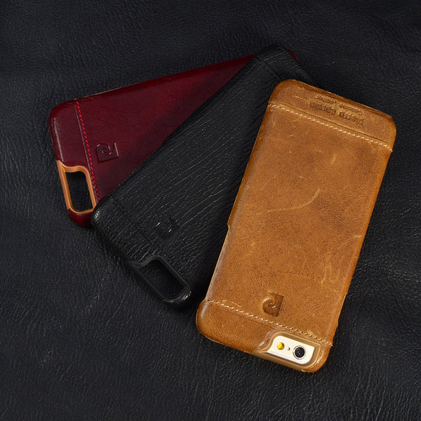 Luxury Genuine Leather Case For iPhone 7 7 Plus Fashion Ultra Thin Slim Back Cover