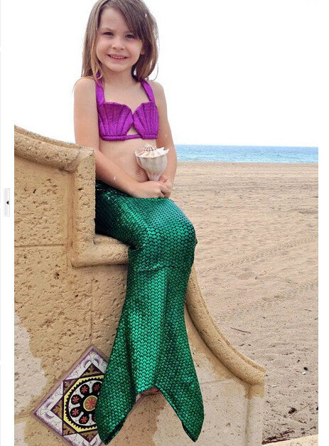 Halloween Girl Children Mermaid Tail Costume