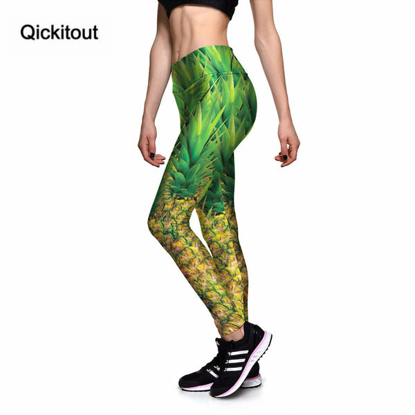 High Waist Fresh Pineapple Fruit Sweet 3D Leggings Wear Comfortable Legging