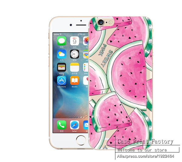 Fruit Watermelon Cherry Deer Cactus Sexy Lips Case Cover for iPhone 7 7 Plus Transparent Clear