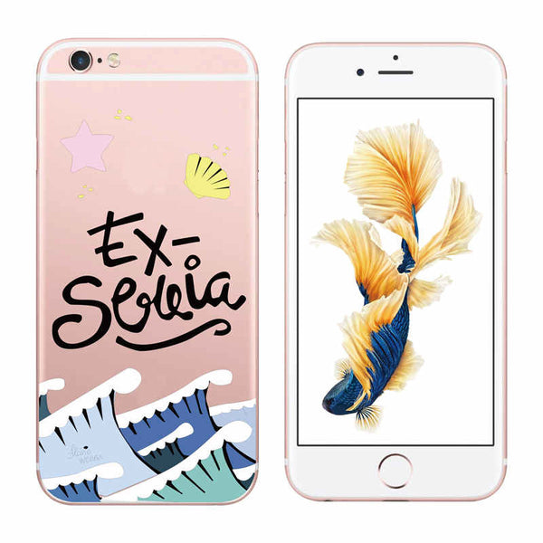 Ultra Thin Clear Words Phone Case for Apple iPhone 7 7 Plus Portuguese Spanish Christian Cartoon