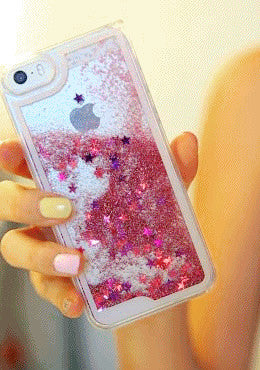 3D Liquid Quicksand Glitter Star Hard Case For iPhone 7 7 Plus Cover Phone Case