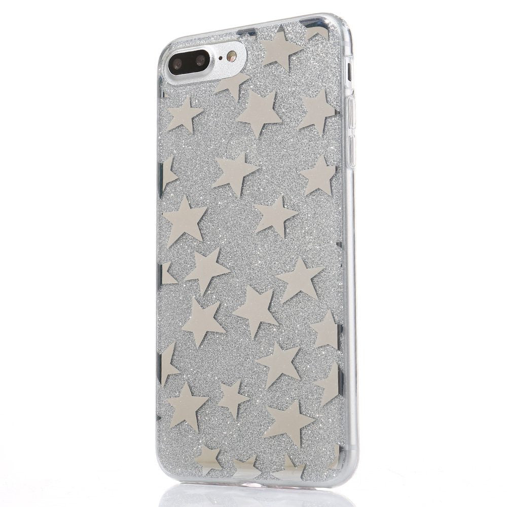 51ab07e55b6 ... Soft TPU Silicone Gel Cover For Apple iPhone 7 7 Plus Clear Transparent  Glitter Stars Phone ...