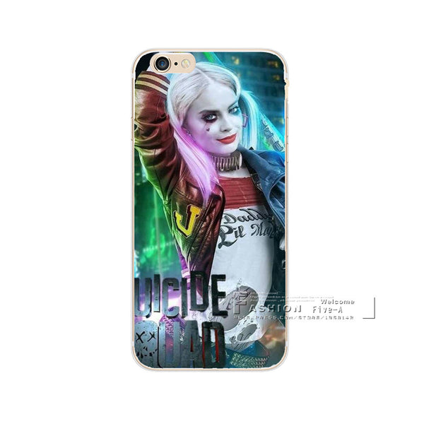 Jared Leto Joker Margot Robbie Harley Quinn Suicide Squad DC Comics Cover For iPhone 7 7 Plus Case