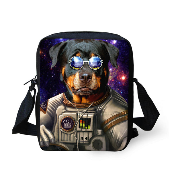 Animal Rottweiler Pattern Messenger Bag For Women Mini Teenager Crossbody Bag Travel Mini Bag