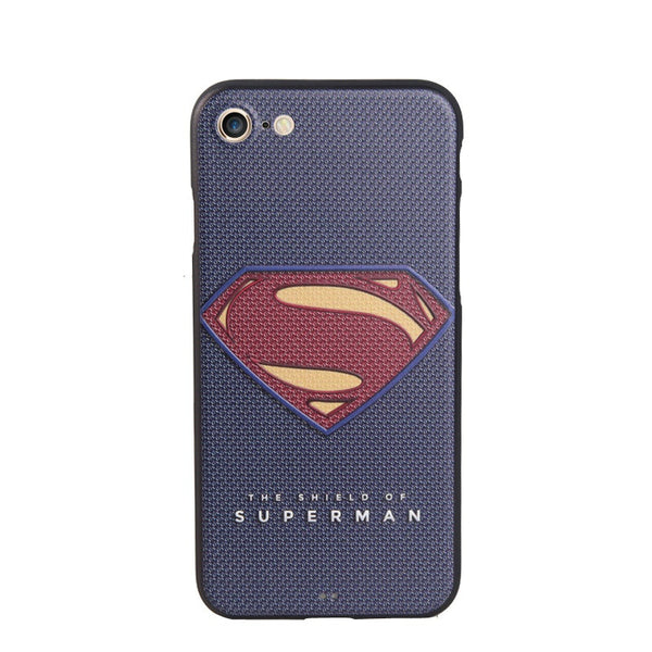 3D Relief Soft Silicon Painting Cover Superman Captain America Ironman iPhone 7 7 Plus Case