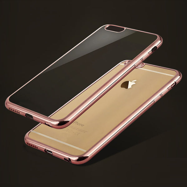 Ultra Thin Rose Gold Plating Crystal Clear Case For Iphone 7 7 Plus Cover