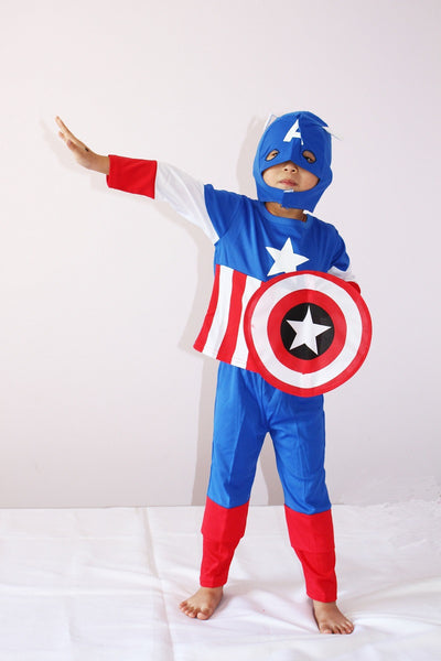 Captain America Halloween Children Costume Set