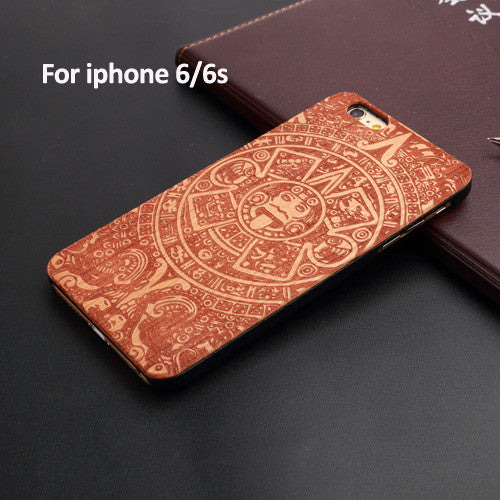 Natural Wood+PC Hard Case Cover for Apple IPhone 7 7 Plus Many Kind of Design