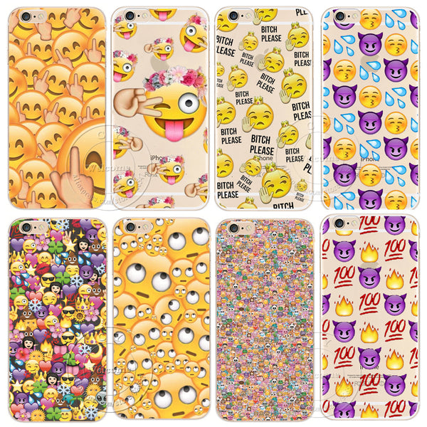 Shell For Apple iPhone 7 7 Plus Back Case Cover Funny Monkey Emoji Hard Plastic Cell Phone Case