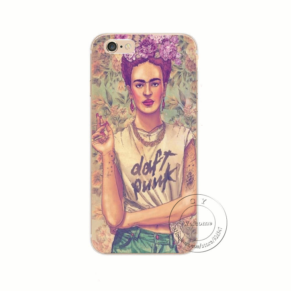Fab Ciraolo Frida Kahlo Style Case Cover For Apple iPhone 7 7 Plus Shell