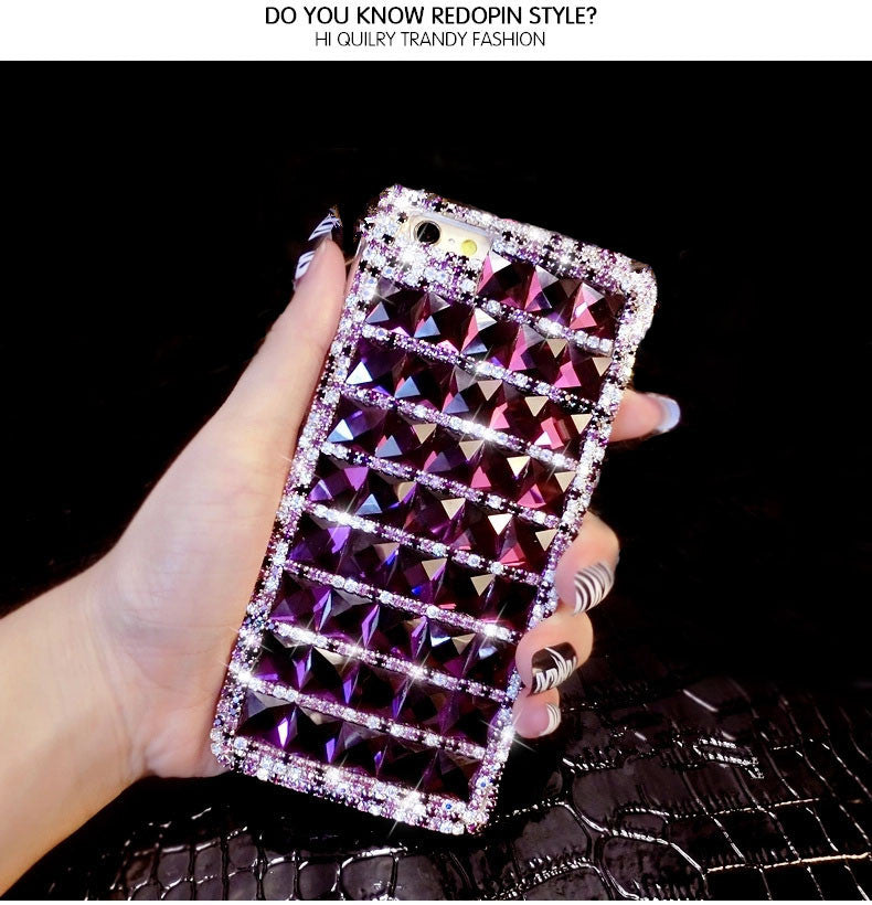 Bling Purple Diamond Phone Case For iPhone 7 7 Plus