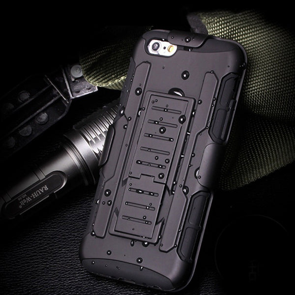 Rugged 3 in 1 Armor Phone Case Cover For iPhone 7 7 Plus Belt Clip Holster Stand Shockproof Case
