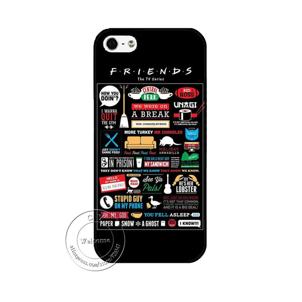 Friends Funny Tv Show Logo Novelty Case Cover For Apple iPhone 7 7 Plus