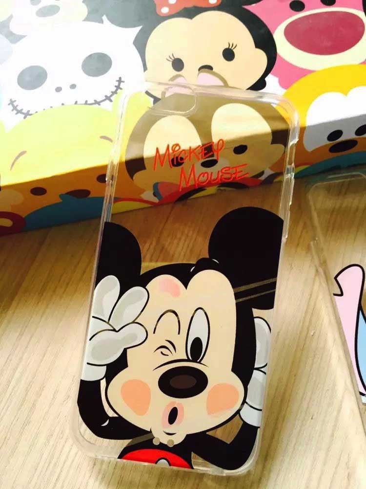 Minnie Mickey Cartoon Soft TPU Case For Apple iPhone 7 7 Plus Back Characters IMD Cover Skin