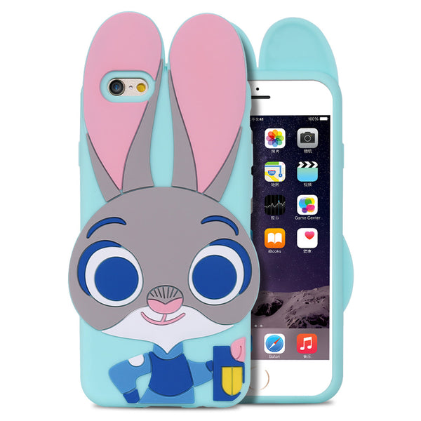 Zootopia Rabbit Back Case For iPhone 7 7 Plus Lovely Cute Phone Accessories