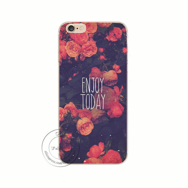 Back Case Cover Beautiful Rose Flower Sky City Design Hard Plastic Shell for iPhone 7 7 Plus