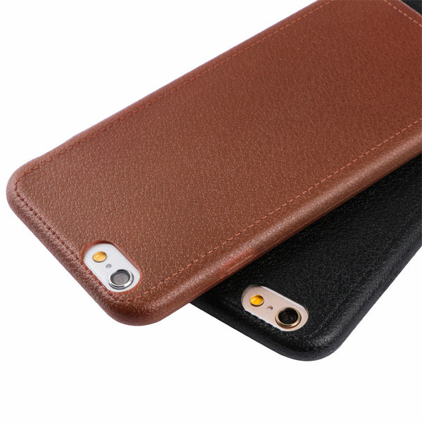 Luxury Leather Texture Pattern Mobile Phone Cases for Apple iPhone 7 7 Plus