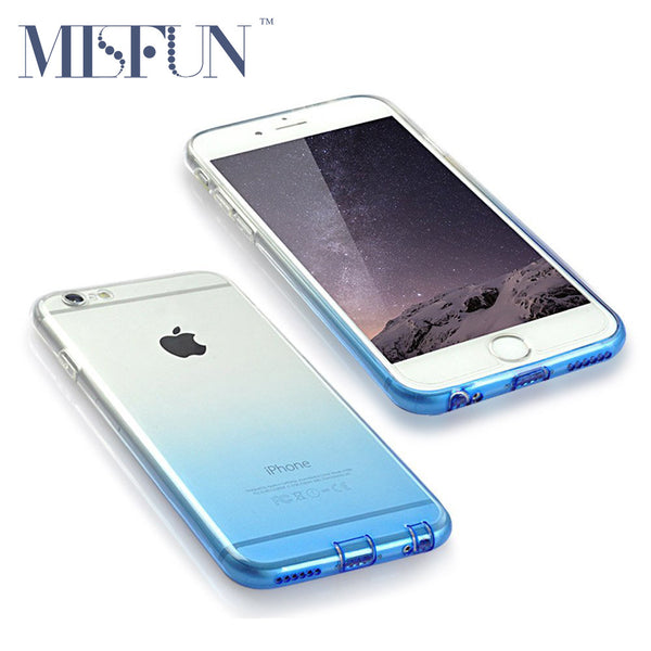 TPU Soft Phone Case For iPhone 7 7 Plus Colorful Ultrathin Transparent Phone Shell Cover Camera