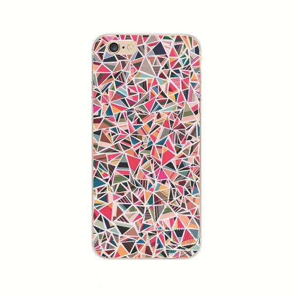 Pretty Art Colorful Triangle Tribal Style Hard White Skin Case Cover For Apple iPhone 7 7 Plus