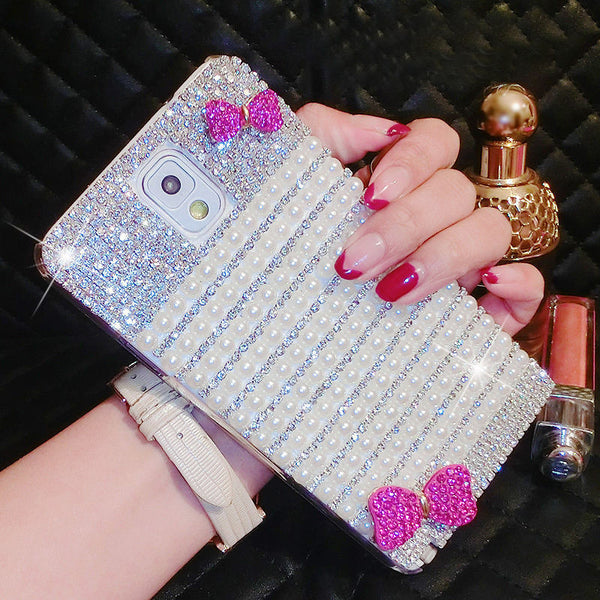 Luxury Bling Crystal Diamond Bow Case Cover For iPhone 7 7 Plus