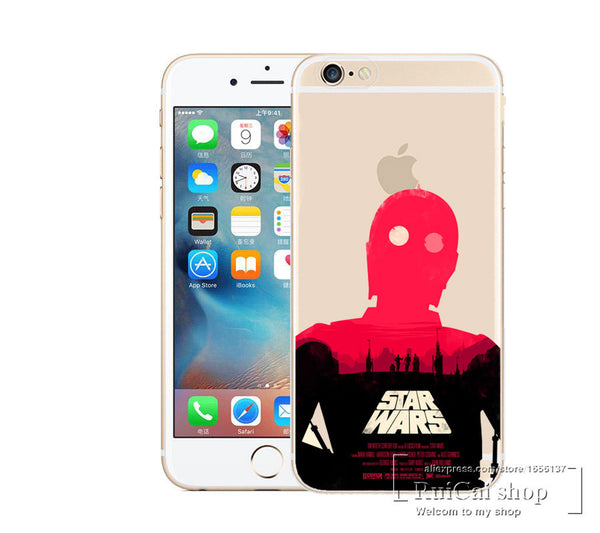 Marvel Hero Captain America Design Case Cover For Apple iPhone 7 7 Plus Star Wars Transparent Shell