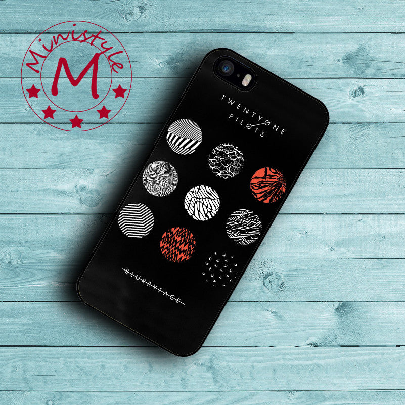 Black Twenty One Pilots 21 Case for iPhone 7 7 Plus Cover