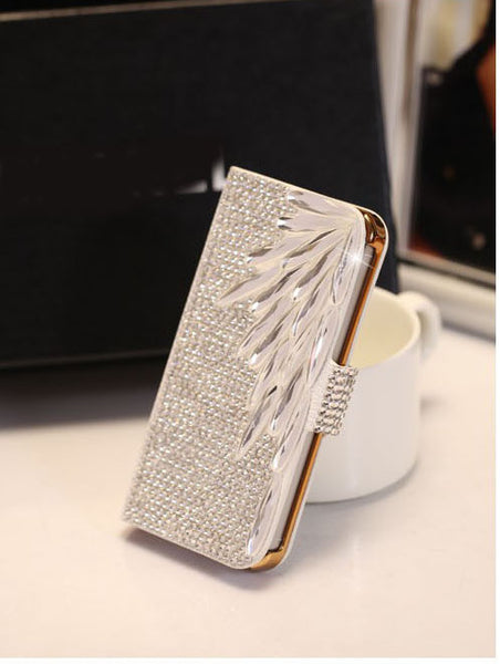 Bling Diamond Crystal Filp Wallet Leather Case For iPhone 7 7 Plus
