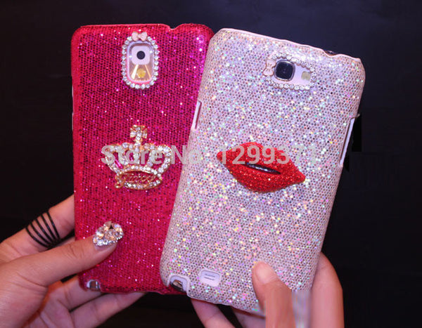 Bling Crown Kiss Lip Diamond Case Cover for iPhone 7 7 Plus