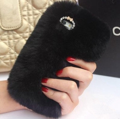 Fashion Luxury Warm Soft Rabbit Fur Skin Case Cover For iPhone 7 7 Plus