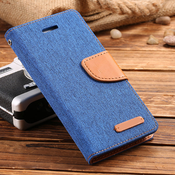 Leather Case For iPhone 7 7 Plus Brand Cloth Stand Wallet Flip Cover Bags