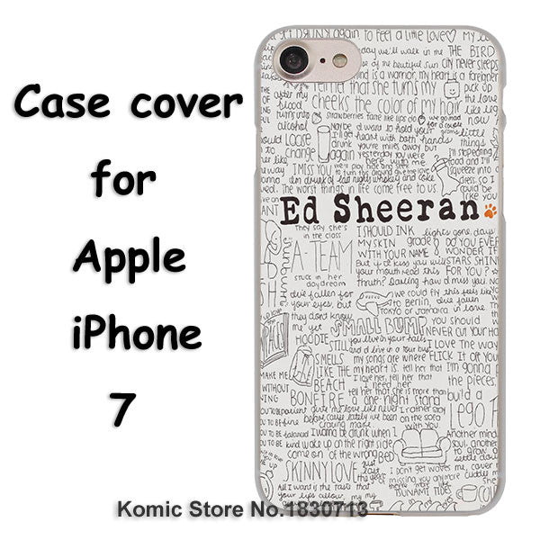 Ed Sheeran Hard Transparent Clear Cover Case For Apple iPhone 7 7 Plus