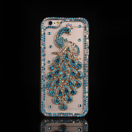 Bling Diamond Peacock Case For iPhone 7 7 Plus