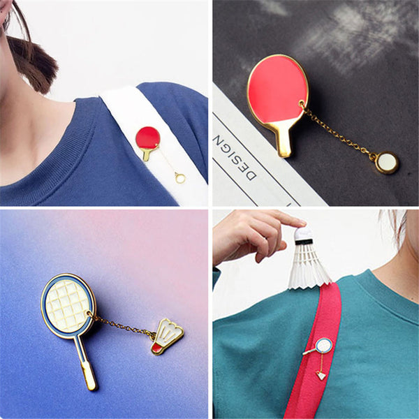 Fashion Girl Brooch Enamel Pin Badminton Table Tennis South Korea's Brooch Popular Jewelry Factory