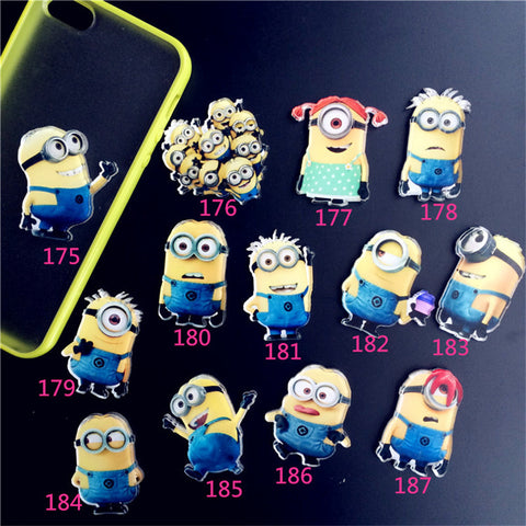 Acrylic Harajuku Badge Minions Brooches Up Collar Tips Cartoon Enamel Pin Christmas Gifts