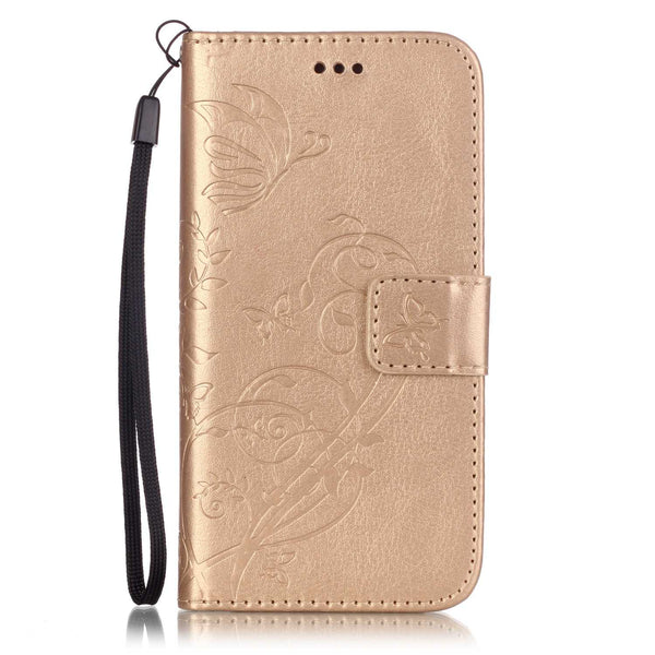 Luxury 3D Embossing Flower Leather Case for iPhone 7 7 Plus Flip Cover Card Holder Wallet Case