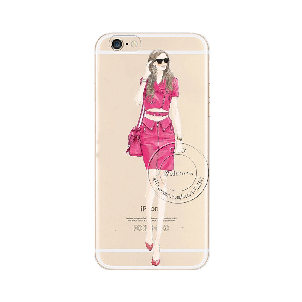 fashionable dress shopping girl case for apple iphone 7 7 plusfashionable dress shopping girl case for apple iphone 7 7 plus transparent hard plastic phone cover