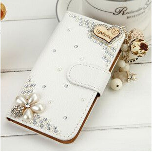 Rhinestone Litchi Leather Case For iPhone 7 7 Plus