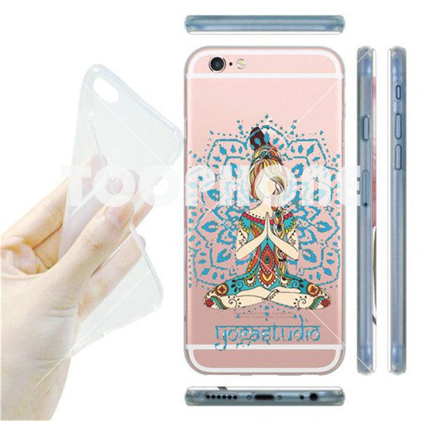 Buddha India Elements Hindu Ultra Thin Soft Clear Crystal Phone Cover for Apple iPhone 7 7 Plus