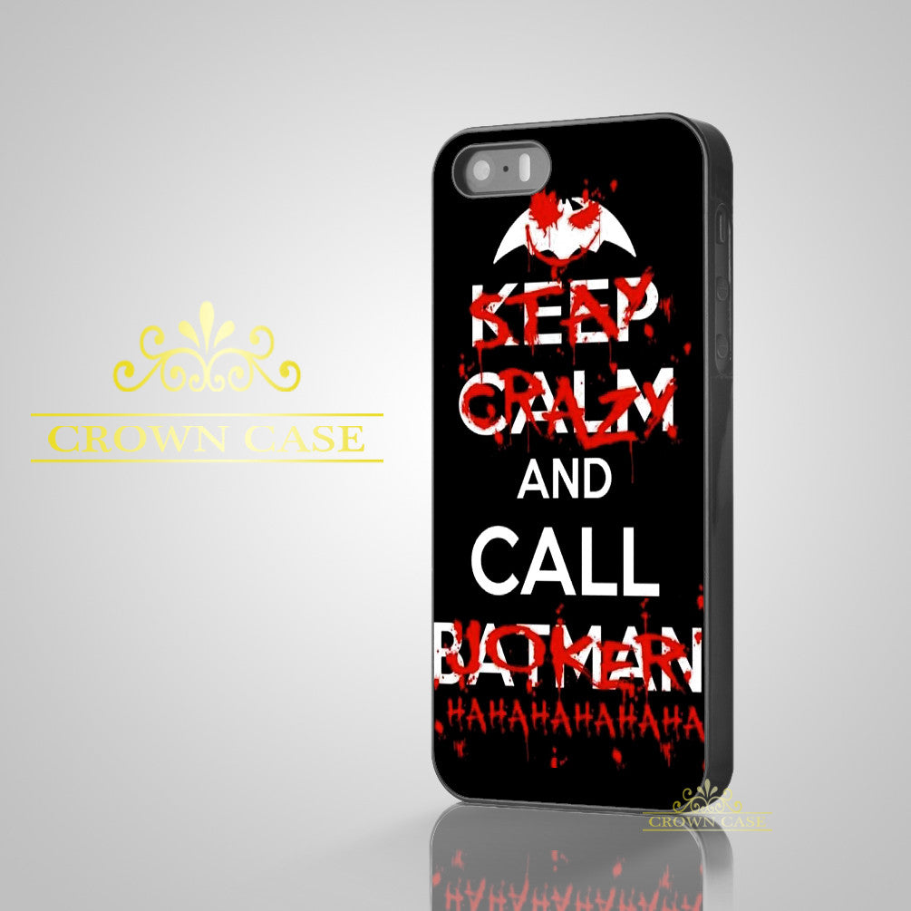 Black Keep Calm Call Batman Joker Case for iPhone 7 7 Plus