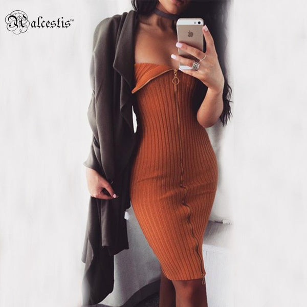 Women Autumn Dress Vintage Casual Sexy Party Dresses Winter Slim Bandage Bodycon Dress Plus Size