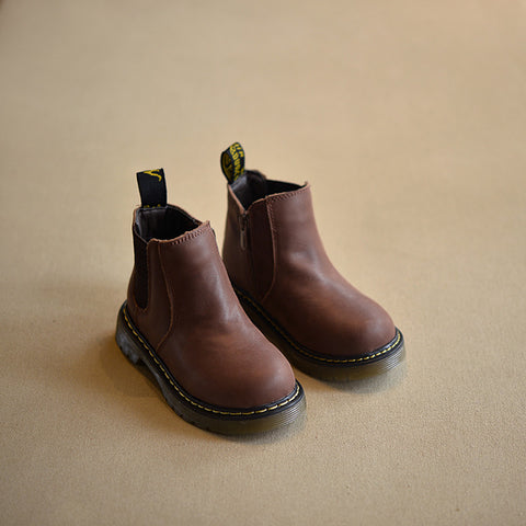 Autumn Winter Handmade Comfortable Girls Leather Martin Boys Fashion Kids Boots High Quality
