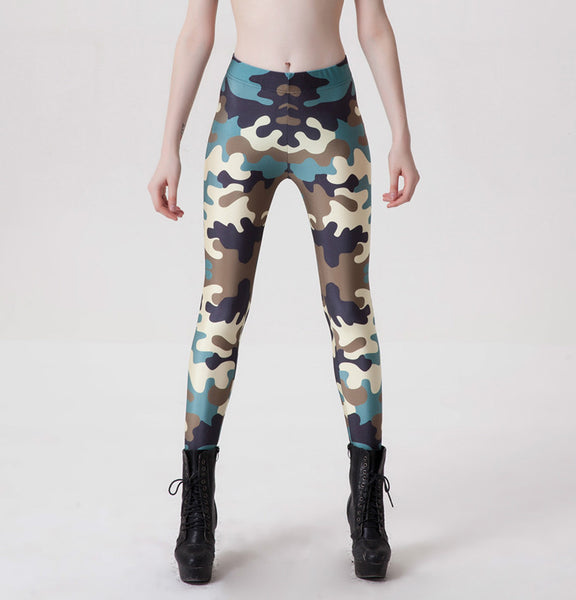 S-4XL Woman Fashion Camo Leggings Fitness Slim Camouflage Workout Active Wear Female Legging