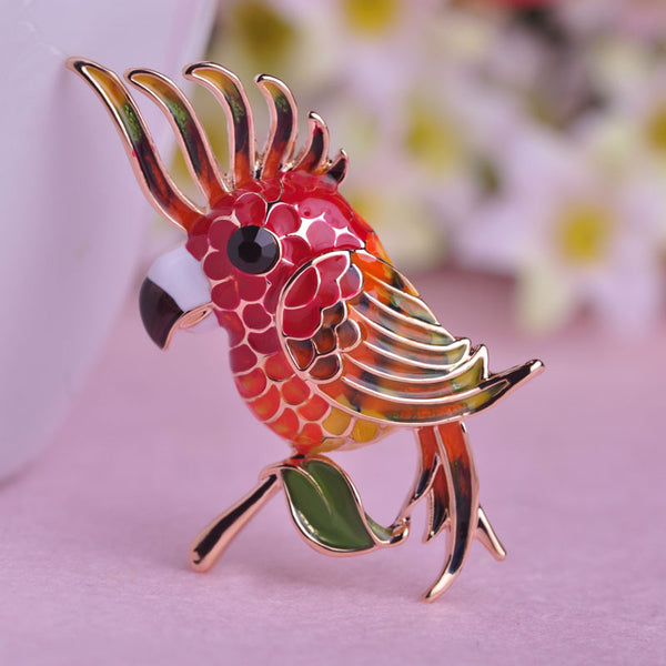 Noble Bird Empress Brooch Colorful 18K Gold Plated Women Brooches For Bag Branch Birds Enamel Pin