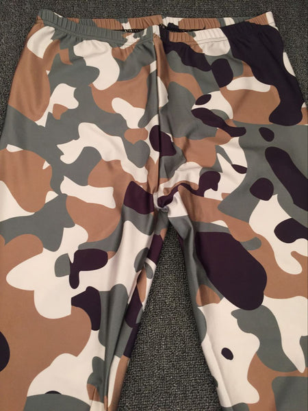 S-4XL Women Plus Size Camo Camouflage Army Leggings  Ropa Fitness Mujer Workout Active Legging