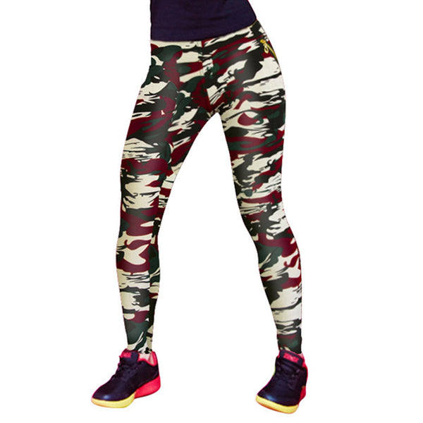 Army Green Leggings Women Fashion Printed Camo Legging Plus Size