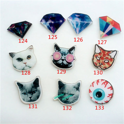 Acrylic Harajuku Badge Alien Cat Brooches Enamel Pin Up Collar Cartoon Christmas Gifts