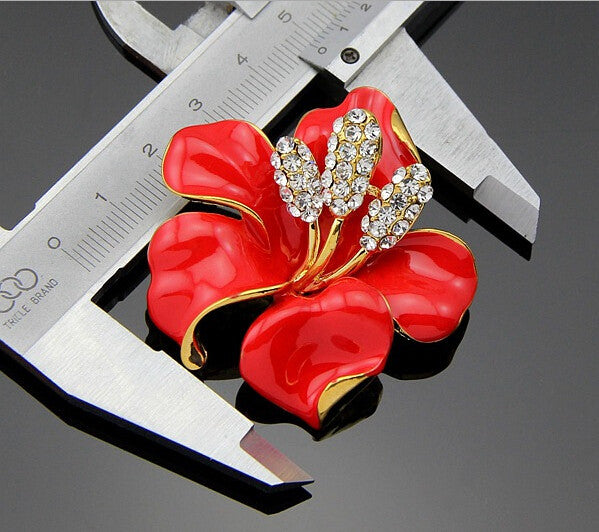 Summer Fine and Fashion Jewelry Flower Brooch for Women Wedding Brooches Enamel Pin
