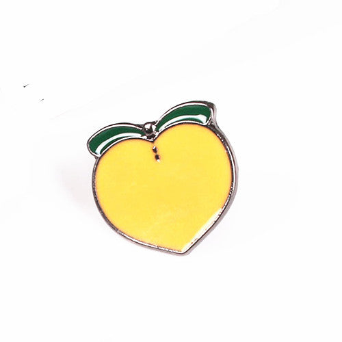 Metal Badge Fruit Banana Peach Avocado Watermelon Brooch Enamel Pin Up Collar Christmas Gifts