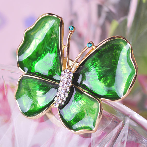 Exquisite Purple Green Butterfly Brooches Multifunctional Brooch For Scarf Buckles Dress Enamel Pin